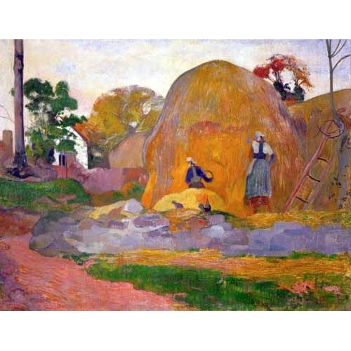 Comprar landscapes - The yellow haystack, 1889 online - Gauguin, Paul
