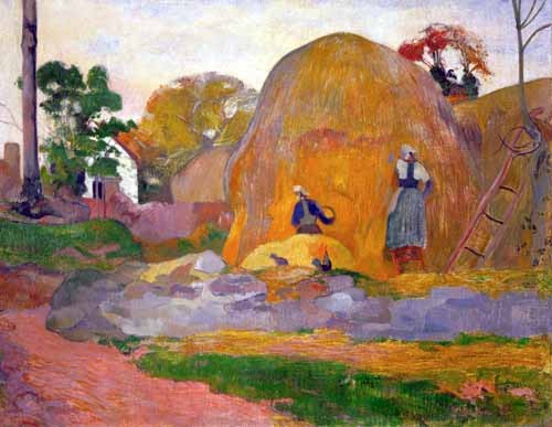 landscapes - The yellow haystack, 1889 - Gauguin, Paul