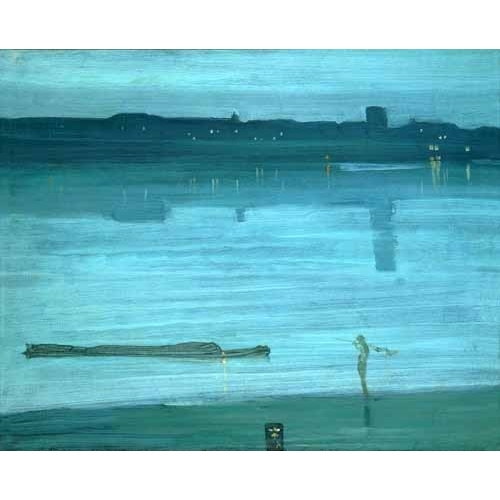 Comprar seascapes - Nocturne, Blue and Silver_Chelsea, 1871 online - Whistler, James Abbot McNeill