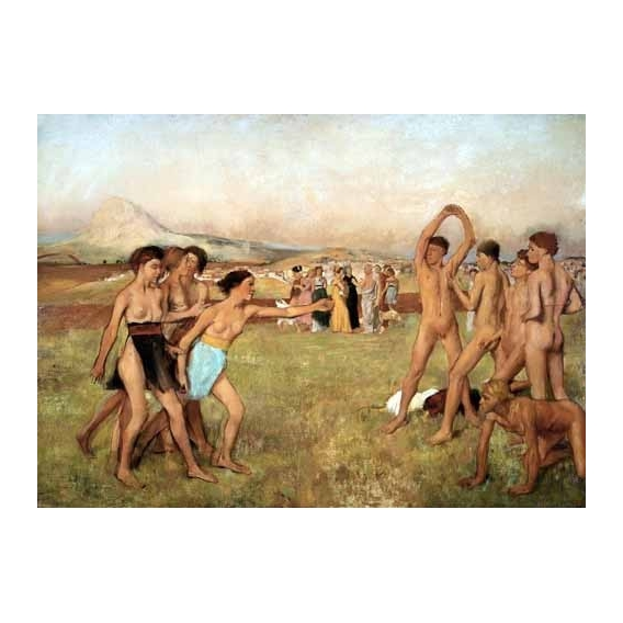 """Young Spartans Exercising, 1860"""