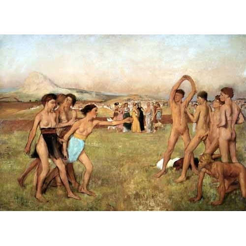 Comprar nude paintings - Young Spartans Exercising, 1860 online - Degas, Edgar