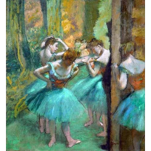 """Pink and Green Dancers, 1890"""