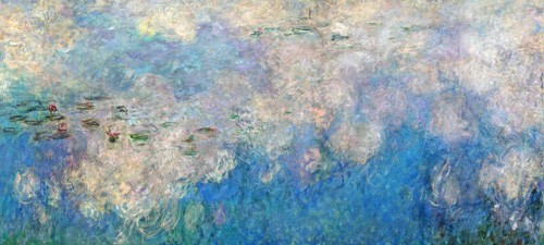 cuadros de paisajes - Cuadro The Waterlilies - The Clouds (central section). - Monet, Claude