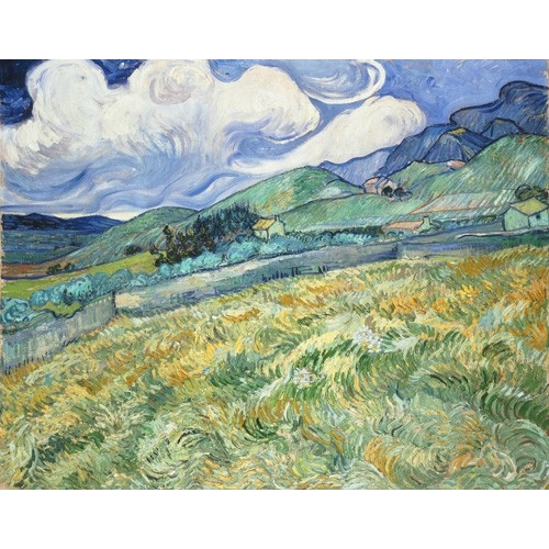 "Cuadro ""The Green Wheatfield behind the Asylum, 1889"""