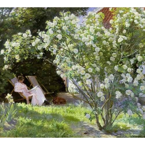 Comprar flowers - Line Roses (The artists wife at Skagen) online - Kroyer, Peder Severin