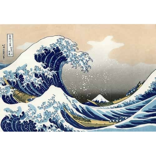 Comprar ethnic and oriental paintings - Tsunami online - Hokusai, Katsushika