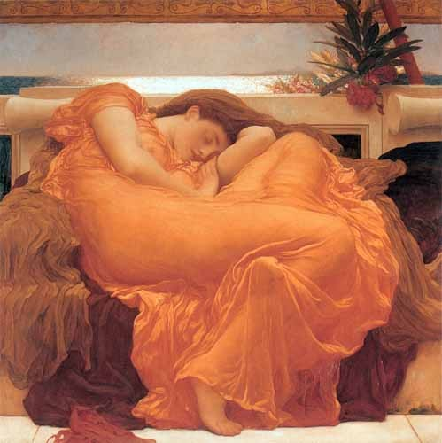 cuadros de retrato - Cuadro Flaming June - Leighton, Frederick