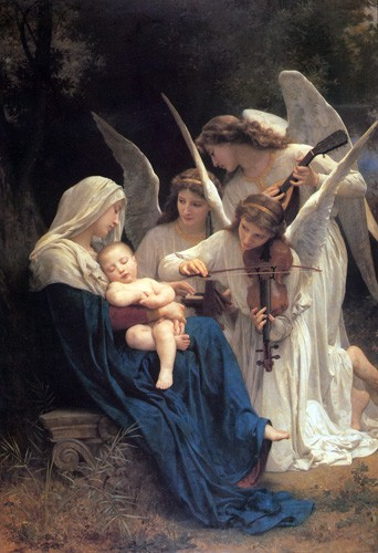 cuadros religiosos - Cuadro Song of the Angels - Bouguereau, William