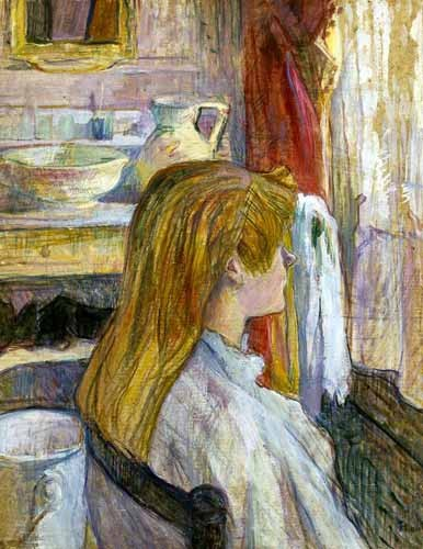 decorative paintings - Mujer en la ventana - Toulouse-Lautrec, Henri de