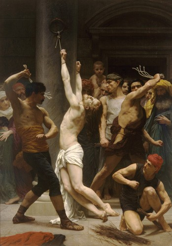 cuadros religiosos - Cuadro Flagellation of Christ - Bouguereau, William
