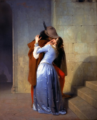 cuadros de retrato - Cuadro The Kiss (El Beso) - Hayez, Francesco