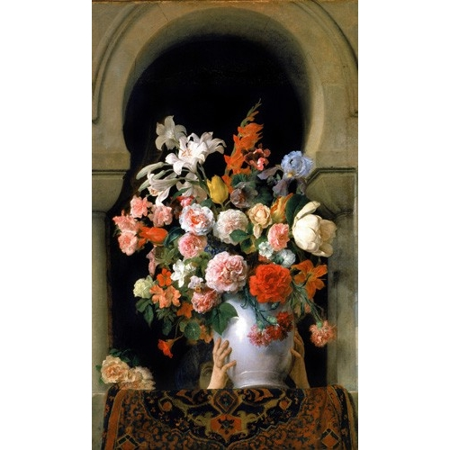 Comprar cuadros de flores - Cuadro Vase of flowers on a harem s window online - Hayez, Francesco