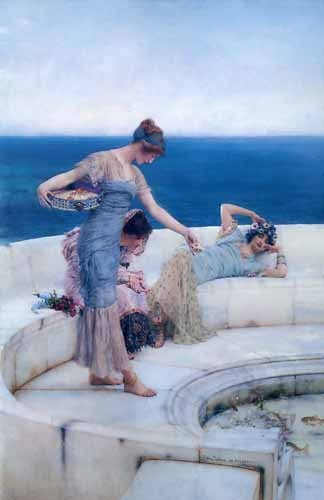 decorative paintings - Silver Favourites - Alma-Tadema, Lawrence