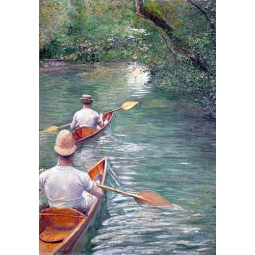 Comprar  - Cuadro The Canoes, 1878 online - Caillebotte, Gustave