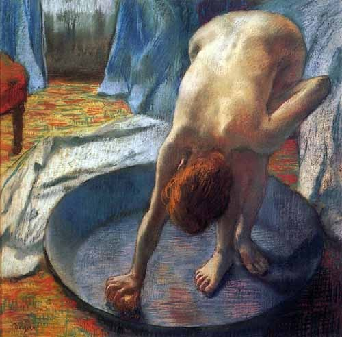 decorative paintings - La tina - Degas, Edgar