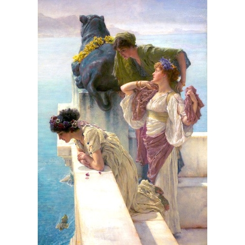 Comprar portrait and figure - A Coign Of Vantage online - Alma-Tadema, Lawrence