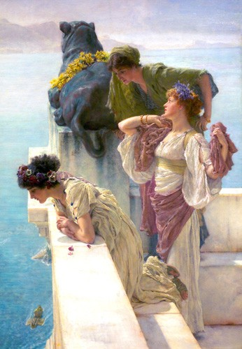 portrait and figure - A Coign Of Vantage - Alma-Tadema, Lawrence