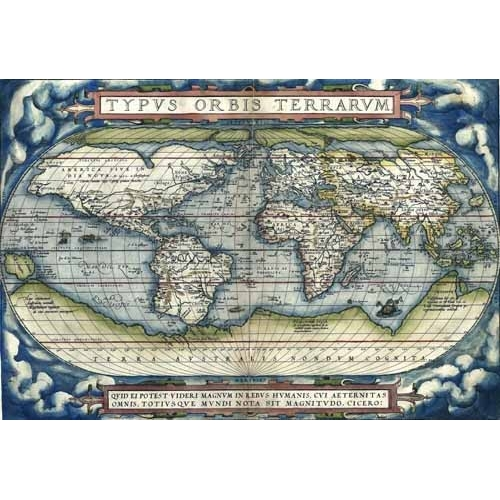 Comprar maps, drawings and watercolors - Ortelius World Map, 1570 online - Mapas antiguos