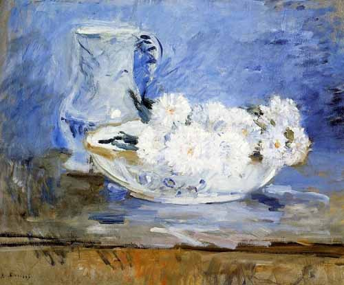 decorative paintings - Margaritas - Morisot, Berthe
