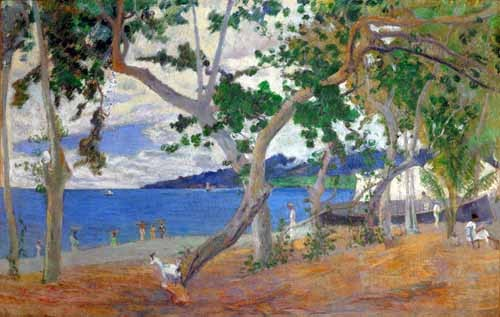 seascapes - Sea shore, 1887 - Gauguin, Paul
