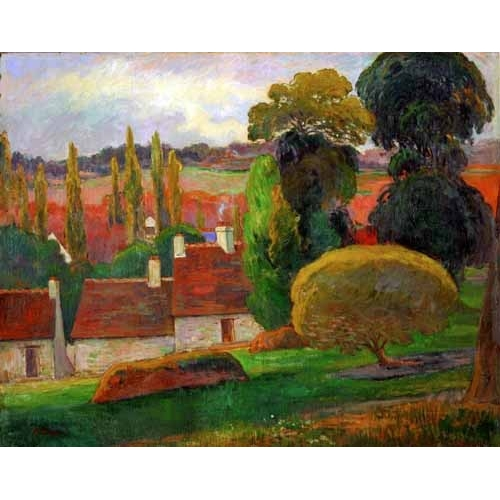 Comprar  - Cuadro A farmhouse in Brittany,1894 online - Gauguin, Paul