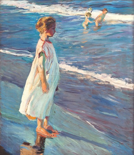 portrait and figure - Niña en la playa - Sorolla, Joaquin