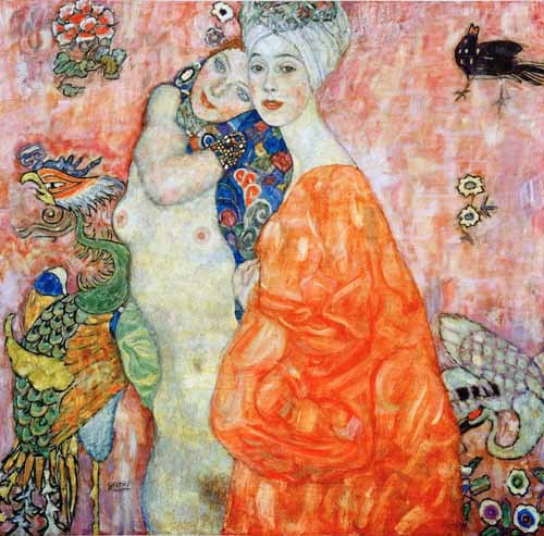cuadros de retrato - Cuadro Girlfriends  - Klimt, Gustav