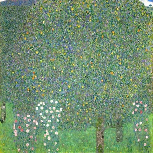 "Cuadro ""Roses under the trees, 1918"""