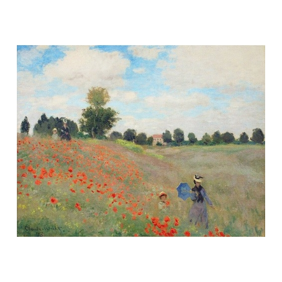 """Wild Poppies, near Argenteuil"""