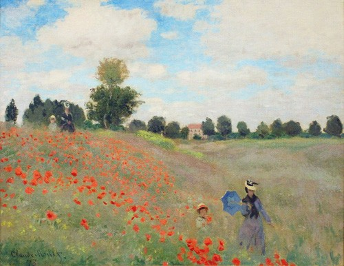 landscapes - Wild Poppies, near Argenteuil - Monet, Claude