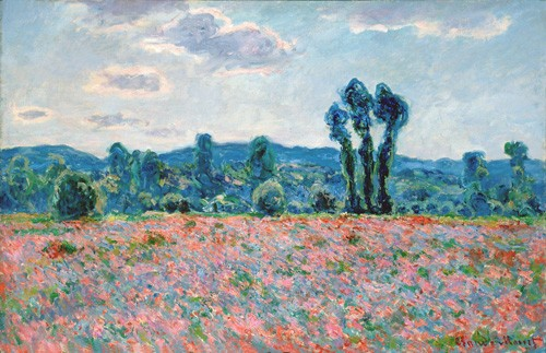 cuadros de paisajes - Cuadro Poppy Field, 1887 (oil on canvas) - Monet, Claude
