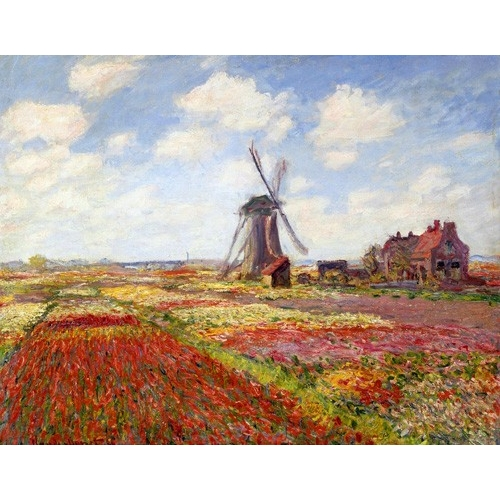 """Tulip Fields with the Rijnsburg Windmill, 1886"""