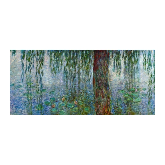 """Waterlilies, Morning with Weeping Willows, (left section)"""