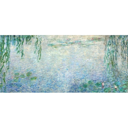 Waterlilies, Morning with Weeping Willows, (central section)