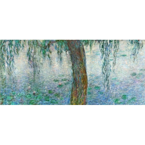 Waterlilies, Morning with Weeping Willows, (right section)
