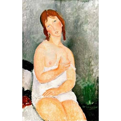 Comprar nude paintings - Jeune femme assise online - Modigliani, Amedeo