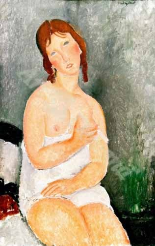 portrait and figure - Jeune femme assise - Modigliani, Amedeo