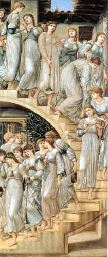 portrait and figure - The Golden Stairs - Burne-Jones, Edward