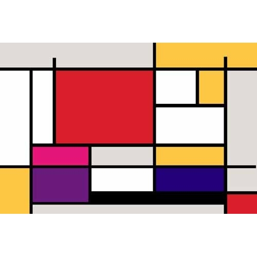 Comprar abstracts paintings - Abstractos MM_MONDRIAN (I) online - Vicente, E. Ricardo