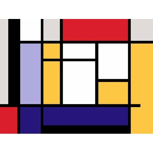 Comprar abstracts paintings - Abstractos MM_MONDRIAN (II) online - Vicente, E. Ricardo
