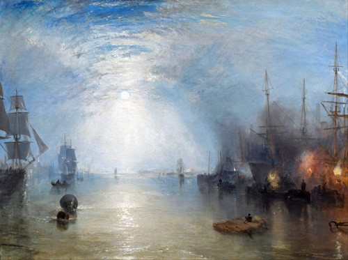 cuadros de marinas - Cuadro Keelmen heaving in coals by night - Turner, Joseph M. William