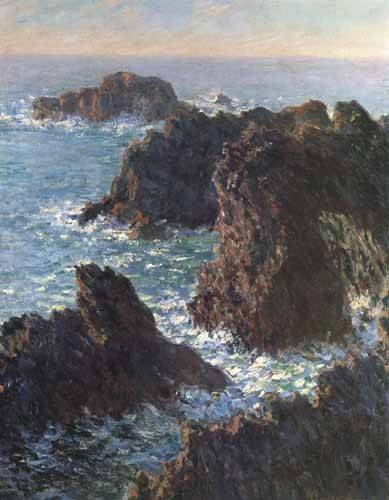 cuadros de marinas - Cuadro Cliffs at Belle-Île - Monet, Claude