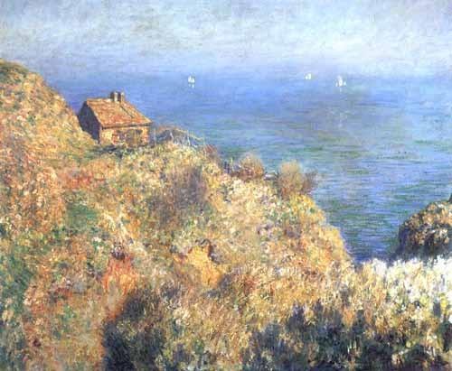 cuadros de marinas - Cuadro Cliffs at Varengeville (II). - Monet, Claude