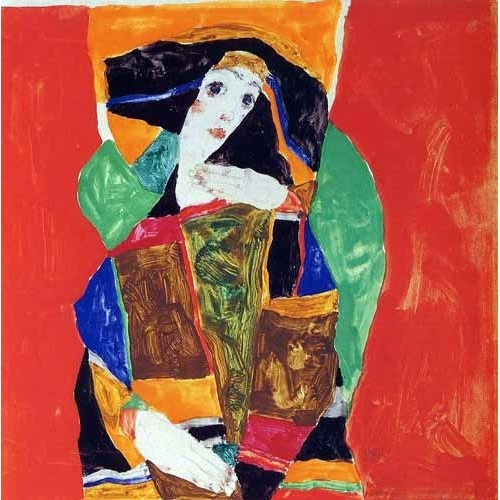 Comprar abstracts paintings - Portrait of a Woman online - Schiele, Egon