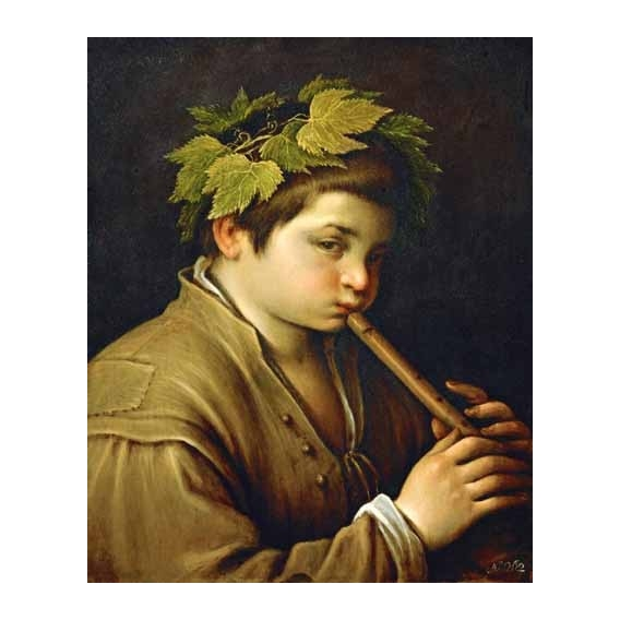 """Boy with flute"""