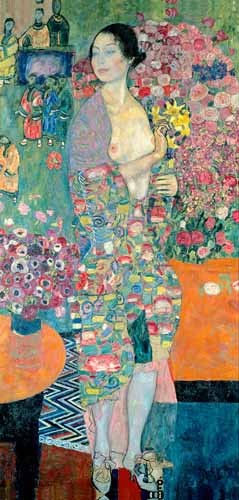"cuadros de retrato - Cuadro ""The Dancer, ca. 1916–18"" - Klimt, Gustav"