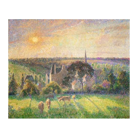 """Landscape at Eragny, France (1895)"""
