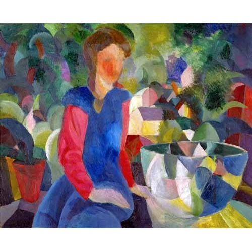 Comprar portrait and figure - Jovencita con pecera online - Macke, August