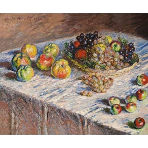 Comprar Still life paintings - Bodegon con uvas, 1888 online - Monet, Claude