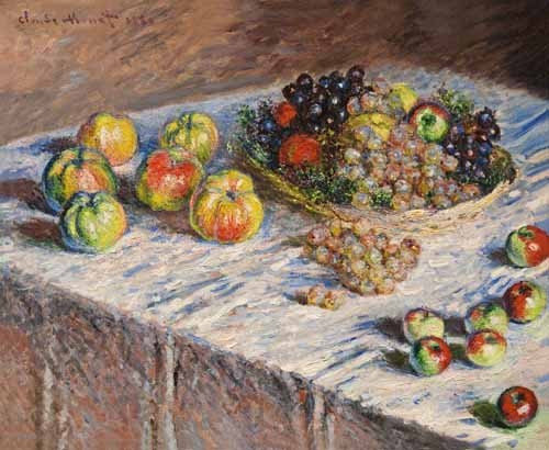 Still life paintings - Bodegon con uvas, 1888 - Monet, Claude